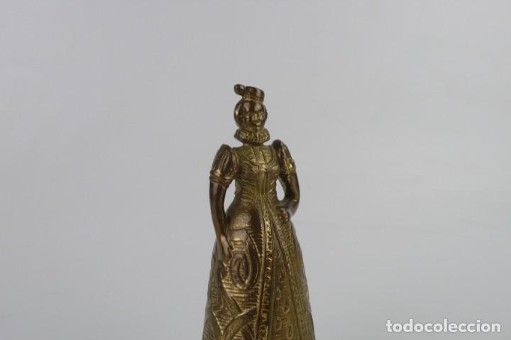 Antigüedades: Campana para llamar al servicio - Bronce - Mediados S.XX - Foto 2 - 272990923