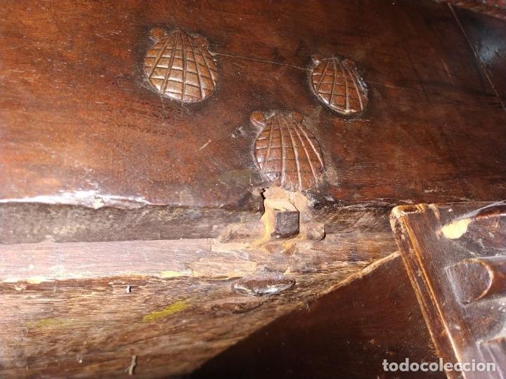 Antigüedades: EXCEPCIONAL BARGUEÑO CASTELLANO. ESTILO VARGAS. NOGAL. HERRAJES ORIGINALES. ESPAÑA. SIGLO XVII - Foto 74 - 273114633