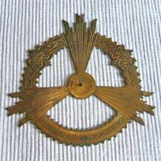 Antigüedades: ANTIGUA CORONA CON HALO DE BRONCE PARA IMAGEN RELIGIOSA DE 10,5 CMS DE DIÁMETRO. Lote 273122428