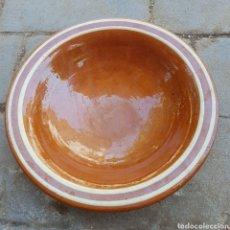Antigüedades: PLATO HONDO EN CERÁMICA ESMALTADA. Lote 273122843