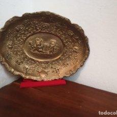 Antigüedades: BANDEJA DE COBRE - QUERUBINES - PRINCIPIOS SXX - BARROCO - ESPAÑA. Lote 273141288