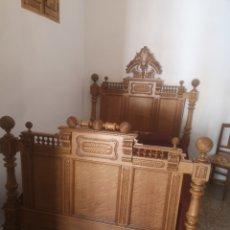 Antigüedades: ANTIGUA CAMA ALFONSINA 135 CM. Lote 273277038