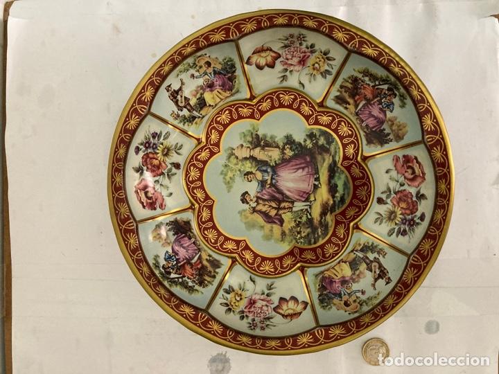 Antigüedades: Antigua Fuente- frutero de metal Inglesa , sellada , de 1971 - Foto 2 - 273295193