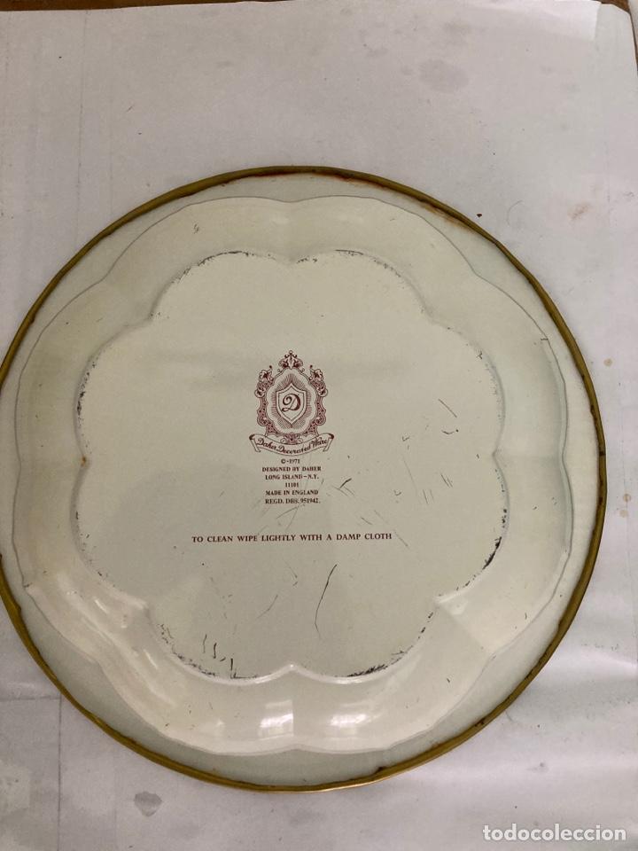 Antigüedades: Antigua Fuente- frutero de metal Inglesa , sellada , de 1971 - Foto 8 - 273295193