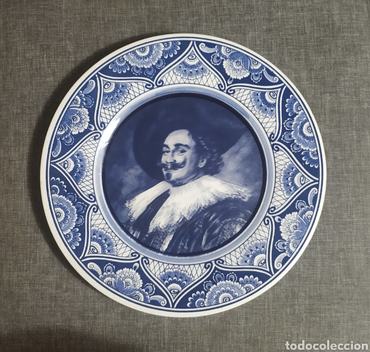 PLATO PINTADO A MANO,BLUE DELFIT,HOLANDA (Antigüedades - Porcelana y Cerámica - Holandesa - Delft)