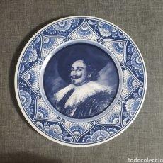 Antigüedades: PLATO PINTADO A MANO,BLUE DELFIT,HOLANDA. Lote 273296158