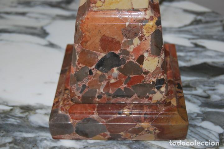 Antigüedades: INCREÍBLE LÁMPARA OBELISCO DE BRECHA DA ARRÁBIDA - PIEDRA - MARMOL - PORTUGAL - AÑOS 30 - Foto 12 - 273302903