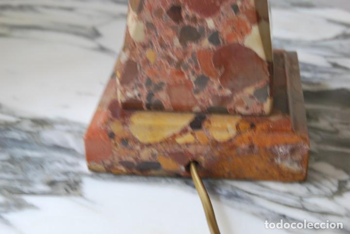 Antigüedades: INCREÍBLE LÁMPARA OBELISCO DE BRECHA DA ARRÁBIDA - PIEDRA - MARMOL - PORTUGAL - AÑOS 30 - Foto 15 - 273302903