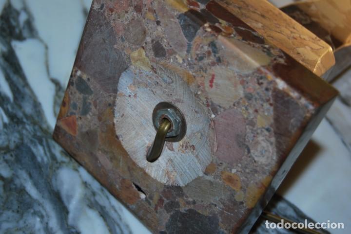 Antigüedades: INCREÍBLE LÁMPARA OBELISCO DE BRECHA DA ARRÁBIDA - PIEDRA - MARMOL - PORTUGAL - AÑOS 30 - Foto 23 - 273302903