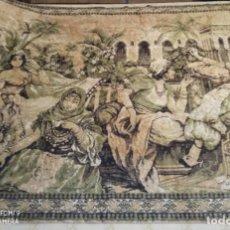 Antigüedades: ANTIGUO Y GRAN TAPIZ ÁRABE ORIENTAL: MOMENTO DEL TÉ EN EL HAREM.. Lote 273339073