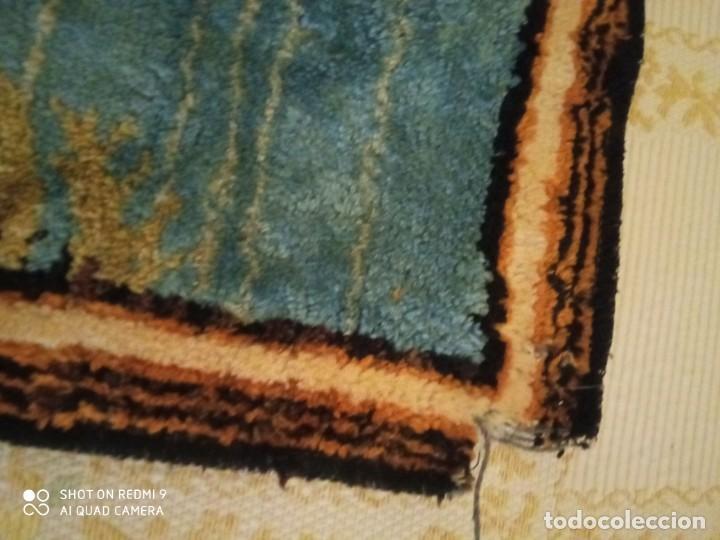 Antigüedades: Antiguo y gran tapiz árabe oriental: preparando comida en el campamento bereber. - Foto 9 - 273340733