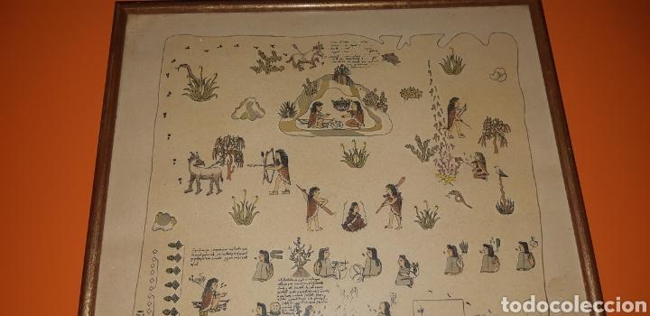 Antigüedades: Reproduccion mapa codice Quinatzin año 1966 - Foto 2 - 273463563