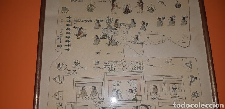 Antigüedades: Reproduccion mapa codice Quinatzin año 1966 - Foto 3 - 273463563