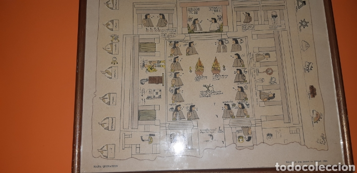 Antigüedades: Reproduccion mapa codice Quinatzin año 1966 - Foto 4 - 273463563