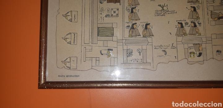 Antigüedades: Reproduccion mapa codice Quinatzin año 1966 - Foto 5 - 273463563