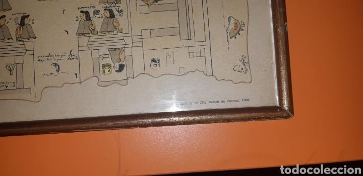 Antigüedades: Reproduccion mapa codice Quinatzin año 1966 - Foto 6 - 273463563