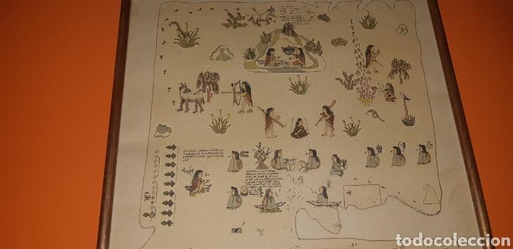 Antigüedades: Reproduccion mapa codice Quinatzin año 1966 - Foto 7 - 273463563