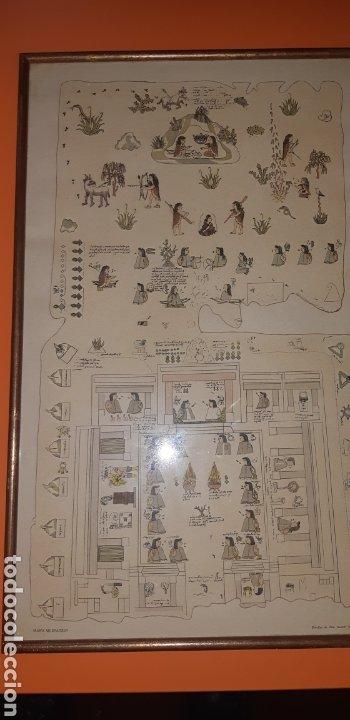 REPRODUCCION MAPA CODICE QUINATZIN AÑO 1966 (Antigüedades - Varios)