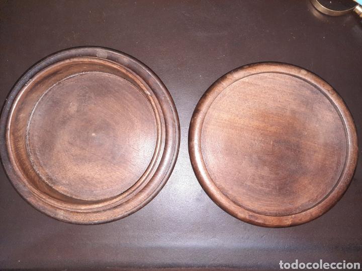 Antigüedades: Caja de madera redonda,19.7 cm. - Foto 2 - 273464598