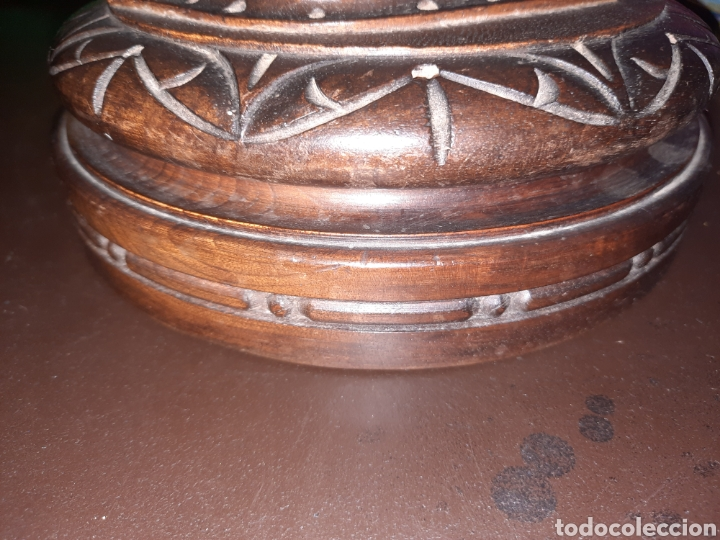 Antigüedades: Caja de madera redonda,19.7 cm. - Foto 4 - 273464598
