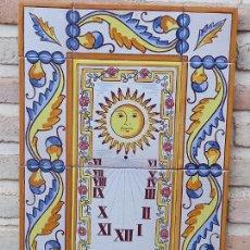 Antigüedades: RELOJ DE SOL EN AZULEJOS PINTADO Y VIDRIADOS DE MANISES ( VALENCIA ) 3. Lote 273477163