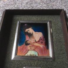 Oggetti Antichi: ESMALTE MATERNIDAD PABLO PICASSO PLATA. Lote 273521193