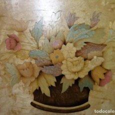 Antigüedades: CUADRO TARACEA CESTO DE FLORES. Lote 273641098