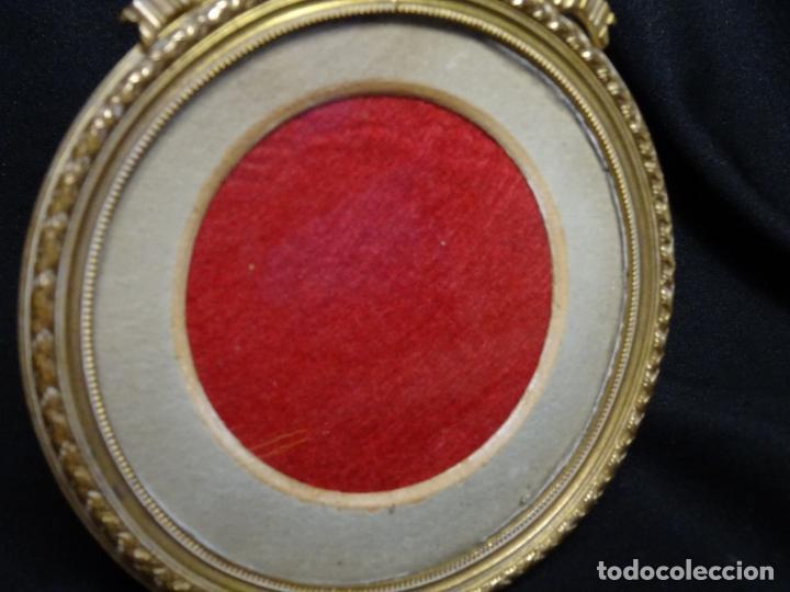 Antigüedades: Portaretrato bronce dorado , portafotos, porta retrato porta foto - Foto 2 - 273642203