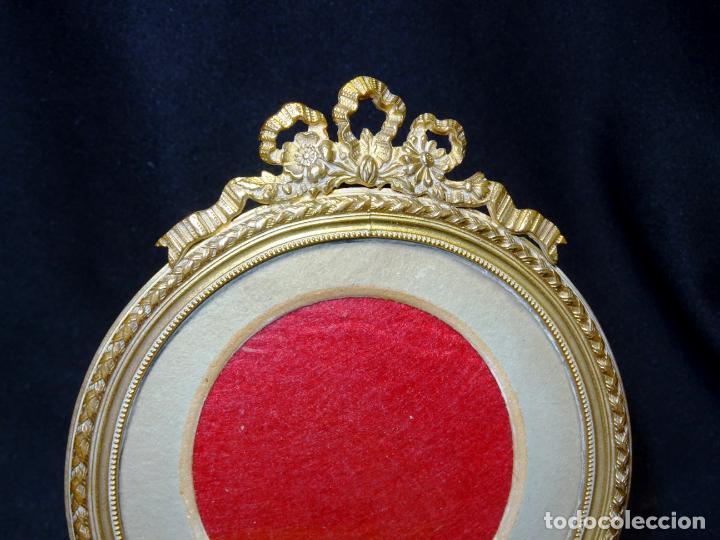 Antigüedades: Portaretrato bronce dorado , portafotos, porta retrato porta foto - Foto 3 - 273642203