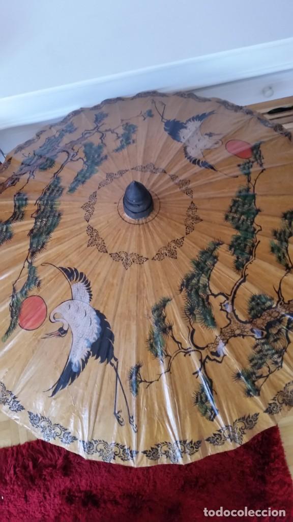 Antigüedades: ANTIGUIO Y MAGNIFICO SOMBRERO PARA COLECION HECHO Y PINTADO A MANO - Foto 11 - 273649478