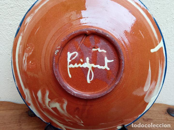 Antigüedades: GRAN Y ANTIGUO PLATO DECORATIVO CERÁMICA CATALANA PUIGDEMONT, LA BISBAL GIRONA. - Foto 6 - 273649793