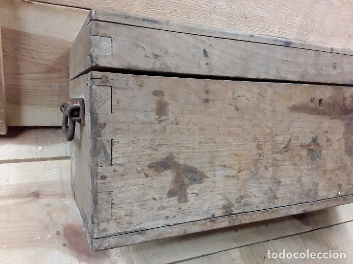 Antigüedades: Baúl para munición. - Foto 4 - 273655658