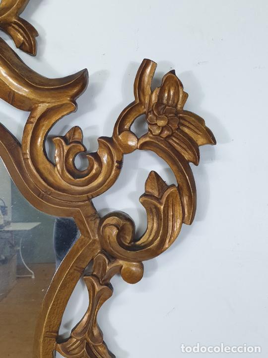 Antigüedades: Cornucopia - Talla de Madera Dorada en Pan de Oro - Espejo - Ancho - 65 cm, Altura - 93 cm - Foto 6 - 273792608