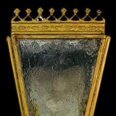 Antigüedades: ANTIGUO FAROL PROCESIONAL CON CRISTALES ORIGINALES.. Lote 273940568