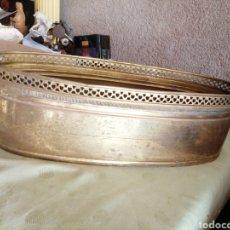 Antigüedades: MACETERO DE BRONCE. Lote 273992388
