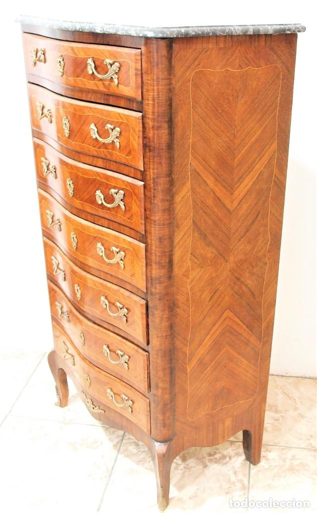 Antigüedades: Mueble antiguo semanier francés - Foto 4 - 274168688