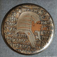 Antigüedades: PLATO EGIPCIO, ARTESANAL, BRONCE,ANTIGUO. Lote 274185943