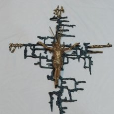 Antigüedades: ESPECTACULAR CRUCIFIJO GRANDE DE BRONCE DALI. Lote 274217168