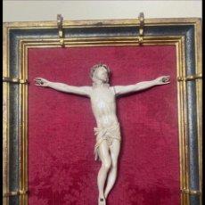 Antigüedades: CRISTO CRUCIFICADO MARFIL. Lote 272141423