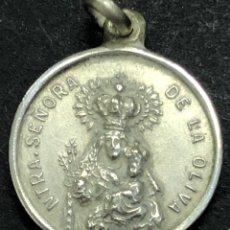 Antigüedades: MEDALLA DE PLATA NUESTRA SEÑORA DE LA OLIVA. Lote 274265083