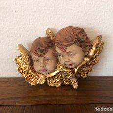 Antiguidades: CABEZAS DE QUERUBINES + ANGEL TOCANDO EL ACORDEON. Lote 274553223