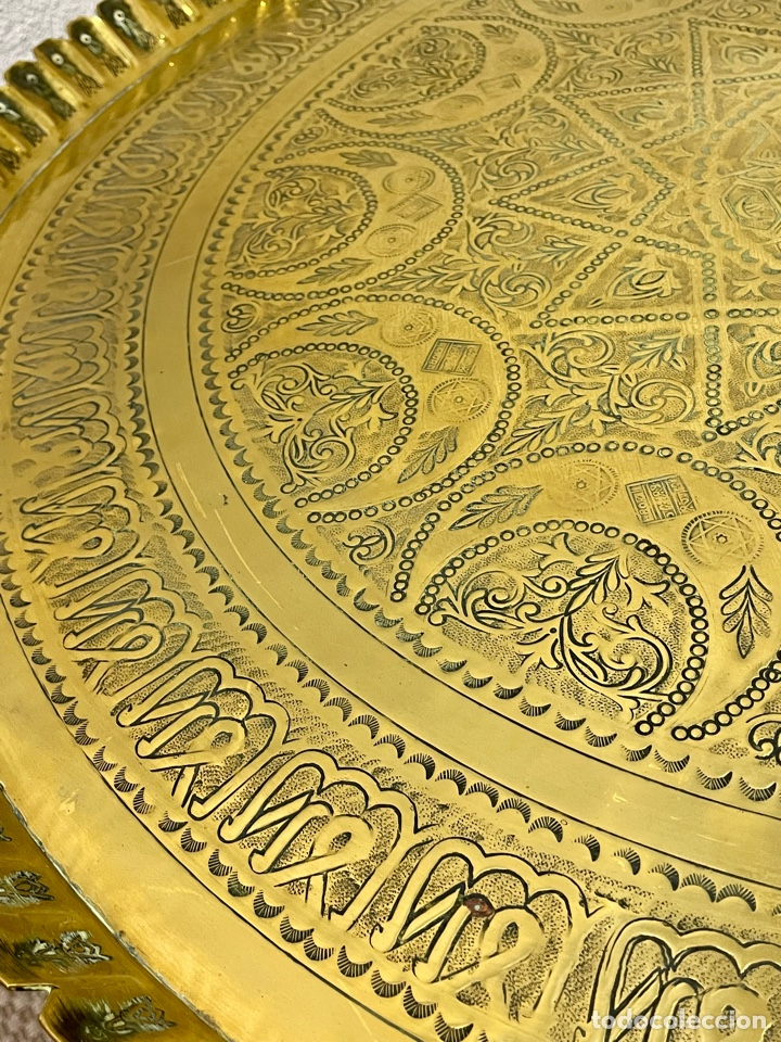 Antigüedades: Mesa Árabe Circa 1.940 - 1.960 - Foto 3 - 256076205