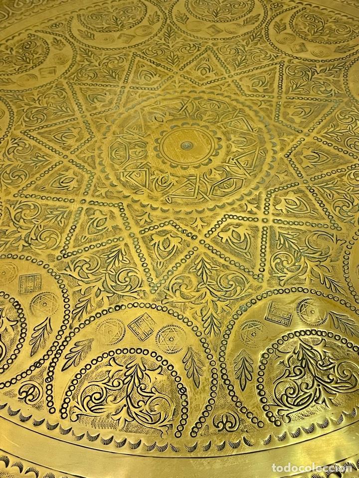 Antigüedades: Mesa Árabe Circa 1.940 - 1.960 - Foto 4 - 256076205