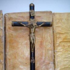 Antigüedades: CRUCIFIJO CONCEPCIONISTAS DE AGREDA,CRISTO SOBRE LA CRUZ.ANTIGUO.VIRGEN DOLOROSA.. Lote 274845808