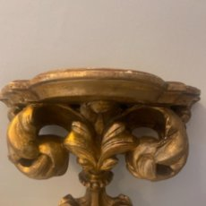 Antiquités: PEANA ANTIGUA MADERA CON PAN DE ORO. Lote 274849038