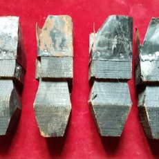 Antigüedades: ANTIGUAS PATAS ALZA BAULES ANTI HUMEDADES. Lote 274869838
