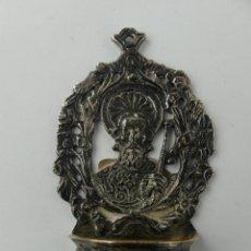 Antigüedades: EXCELENTE BENDITERA DE METAL PLATEADO OBJETO DE DECORACION RELIGIOSA. Lote 275031103