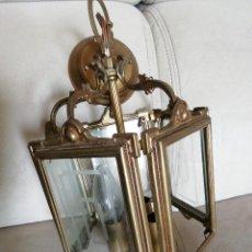 Antigüedades: * FAROL DE BRONCE. 31CM.(G/G). Lote 275046708