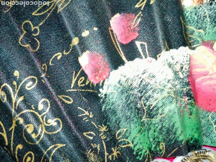 Antigüedades: PRECIOSO ABANICO PINTADO A MANO Y FIRMADO: VENTIMILLA - Foto 6 - 275084478