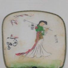Antigüedades: ANTIGUO ABANICO JAPONÉS PAY PAY DE TELA. Lote 275091053